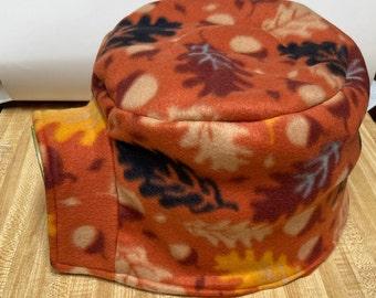 Fall Fleece Igloo Cover, Reversible, Oak Leaves, Ready to Ship