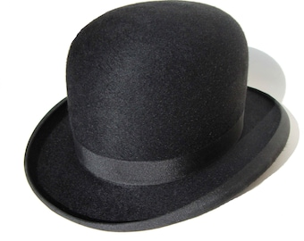 53dd86d4d3d Vintage 30s Knox Bowler Hat Black Fur Felt Derby Hat in Original Box  Bloomingdale s