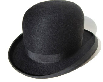 4325356398d Vintage 30s Knox Bowler Hat Black Fur Felt Derby Hat in Original Box  Bloomingdale s