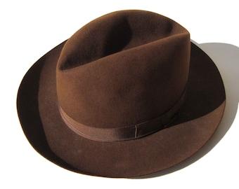 2b7afe1f9ca Vintage Borsalino Alessandria Hat Brown Felt Fedora
