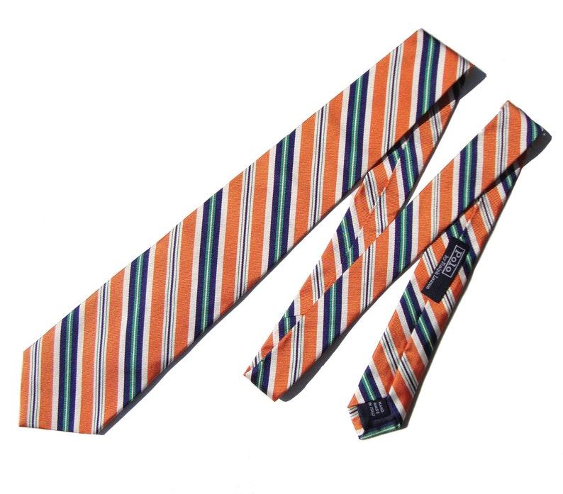 Wtags Mens Striped 80s New Vintage Polo Ralph Lauren Tie Necktie k8nwO0P