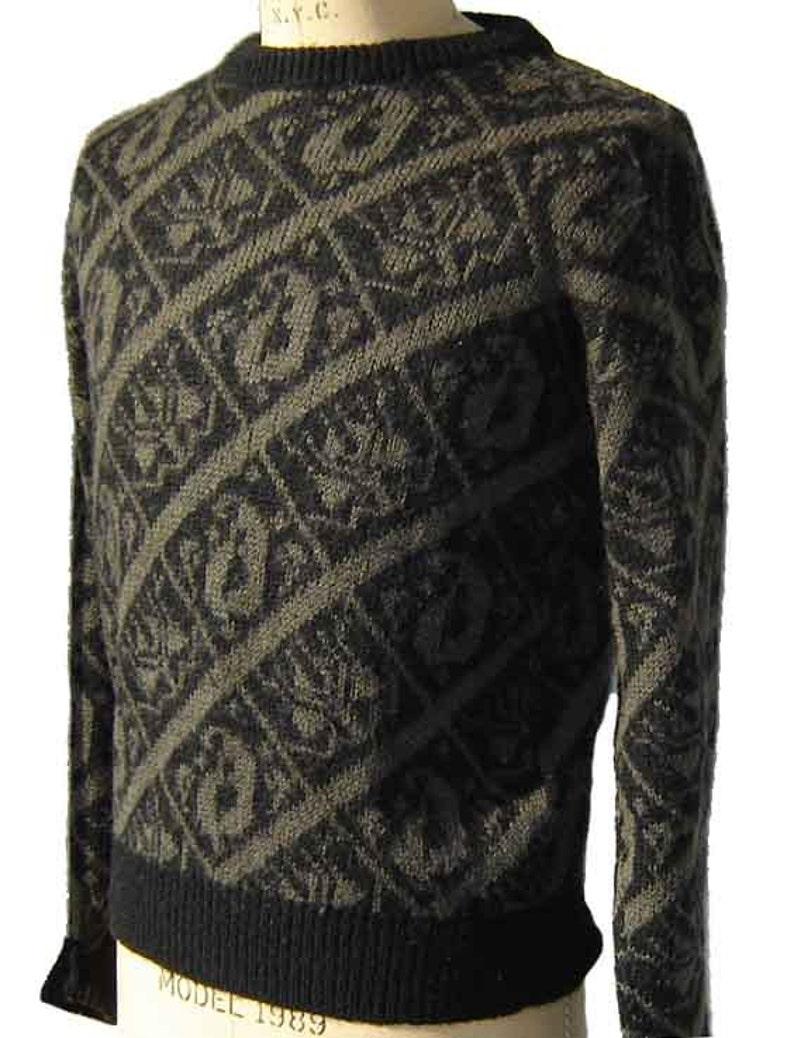 d1214803ff108 Vintage 70s Pucci Sweater Mens Intarsia Brown   Black Vivara