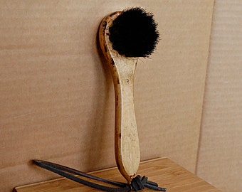 Vintage Wood Shoe Brush Round Head to Polish for Man Gift