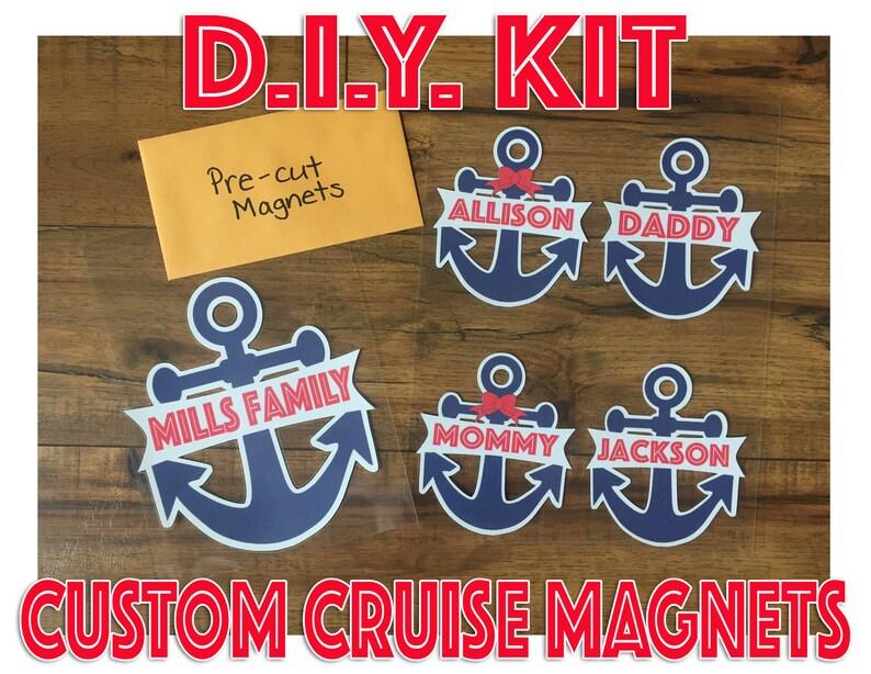 D I Y Kit Custom Family Cruise Door Magnets Decorations Etsy