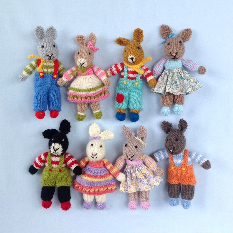 Rabbit Rascals  7 18cm  doll knitting pattern   image 0