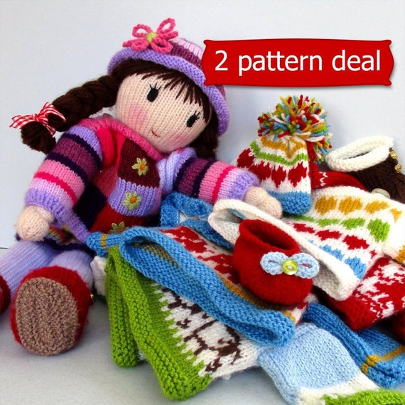 eeb9a18d250126 2 PATTERN deal   POSY doll knitting pattern   knitted doll