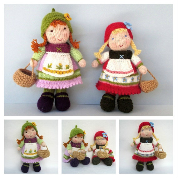 7ce691032d2a25 Fern and Flora 11 28cm doll knitting pattern