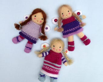 FAIRY BELLES - Doll knitting pattern - Pdf instant download
