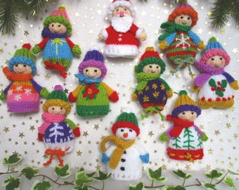 """10 CHRISTMAS Favour Bags - 4"""" (10cm) - party bags - Christmas decorations - Egg cosies - Pdf instant download"""