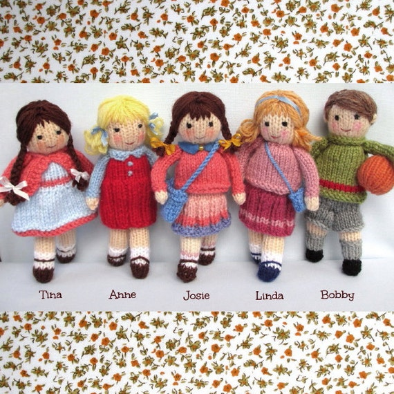898483c018cc8a Little Friends in Autumn 6 15cm toy doll knitting