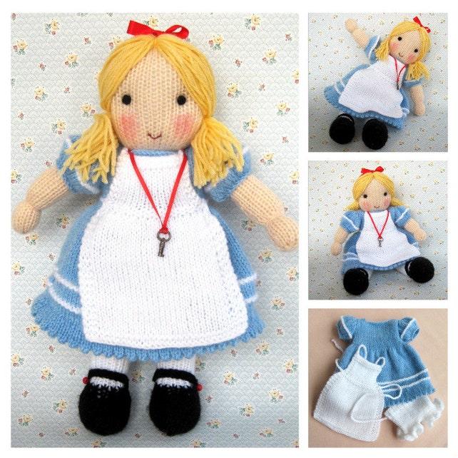 Alice in Wonderland doll knitting pattern INSTANT DOWNLOAD   Etsy