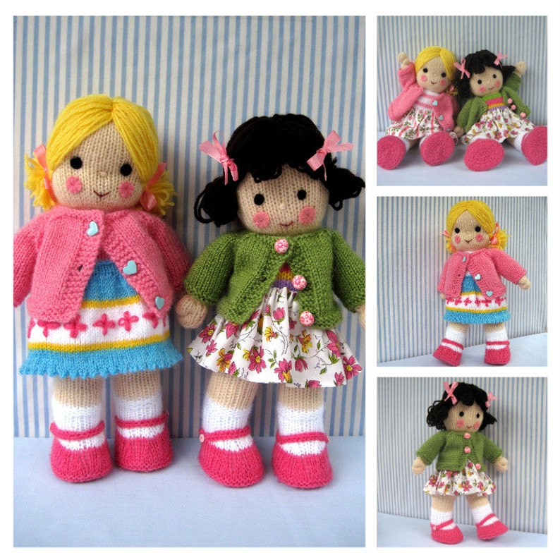c66959f488ba23 Polly and Kate 13 33cm doll knitting pattern
