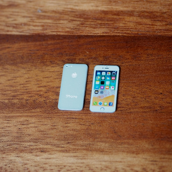 iPhone 8 Space Gray Miniature Scale 1:6 for Blythe G.I.Joe and similar doll New