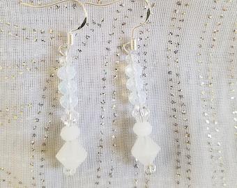 White Shadow Chandelier Earrings