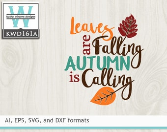 Svg Autumn Cutting File Etsy