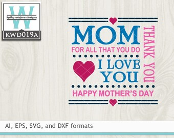 Svg Mothers Cutting File Etsy