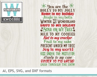 View Christmas Cutting File Kwd093F Design