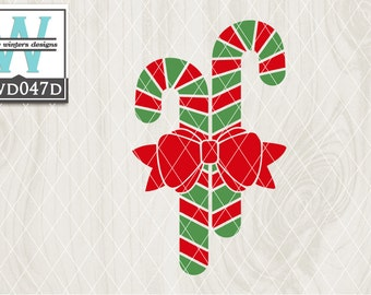 Svg Christmas Themed Cutting File Kwd113b Dxf Svg Eps Png Etsy