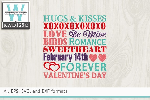 Svg Valentine S Cutting File Kwd125c Etsy