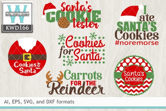 Svg Christmas Cutting Files Kwd166 Etsy