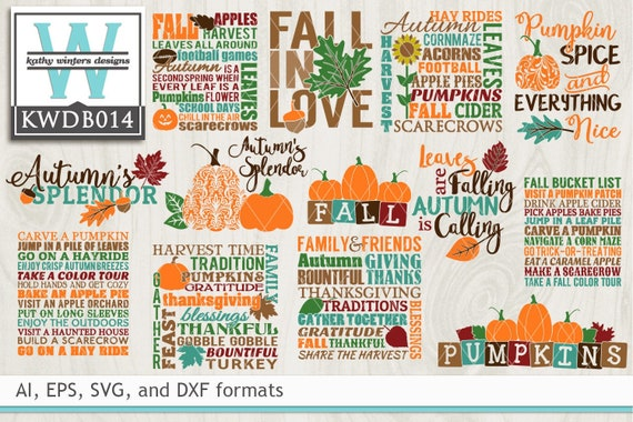 Bundled Autumn Cutting Files Etsy