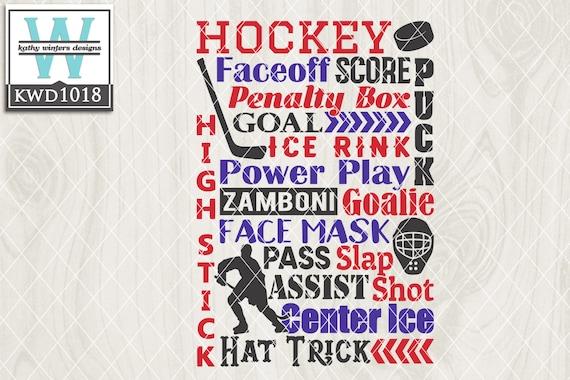 Hockey Themed Cutting Files Etsy