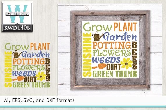 Svg Garden Cutting File Kwd140b Etsy