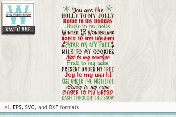 Svg Christmas Cutting File Kwd188e Etsy