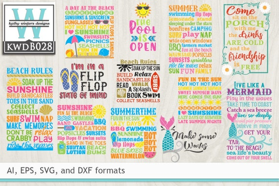 Bundled Summer Themed Cutting File Etsy