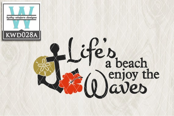 Svg Beach Themed Cutting File Kwd028a Svg Eps Dxf Png Etsy