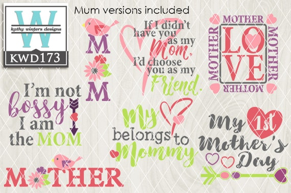 Svg Mother S Day Themed Cutting File Kwd173 Etsy