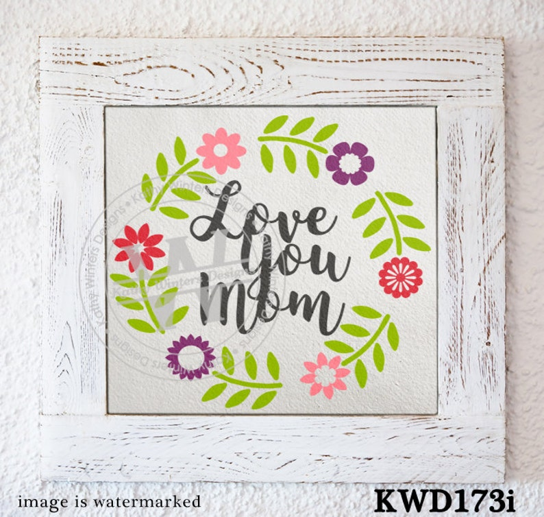 Svg Mother S Day Themed Cutting Files Kwd173i Etsy