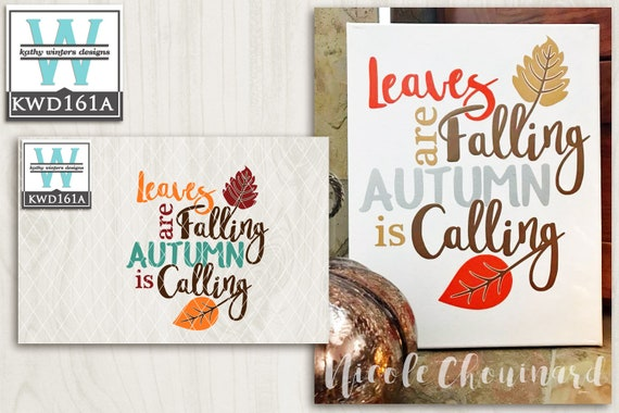 Svg Autumn Themed Cutting File Kwd161a Svg Eps Dxf Png Etsy