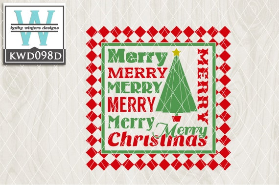 Download Christmas Cutting File Kwd096D DXF