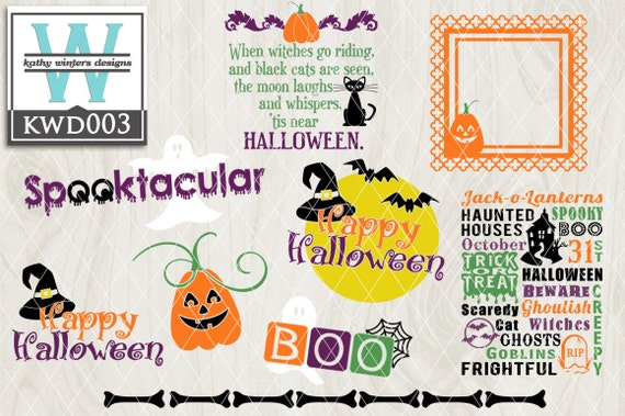 Items Similar To Svg Halloween Themed Cutting File Kwd003 Dxf Svg Eps Png On Etsy