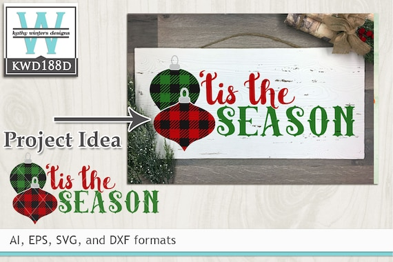 Svg Christmas Cutting File Kwd188d Etsy