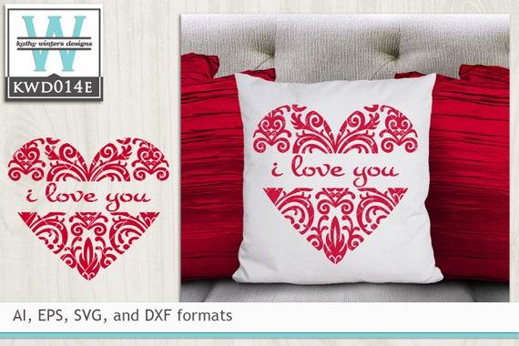 Bundled Valentine Themed Cutting Files Kwdb024 Etsy