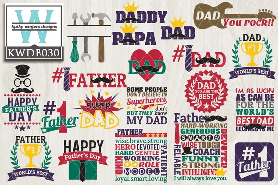 Bundled Father S Day Themed Cutting File Etsy