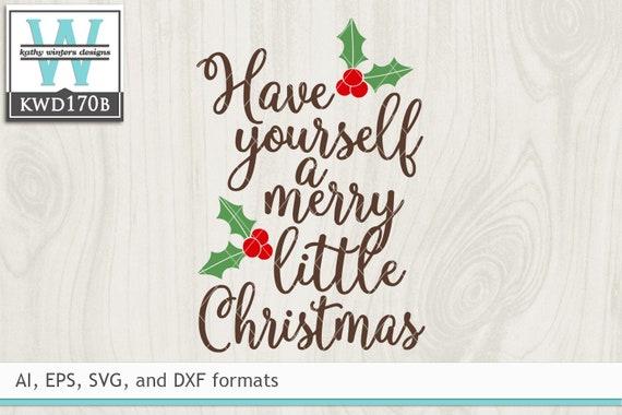 Svg Christmas Cutting File Kwd170b Etsy