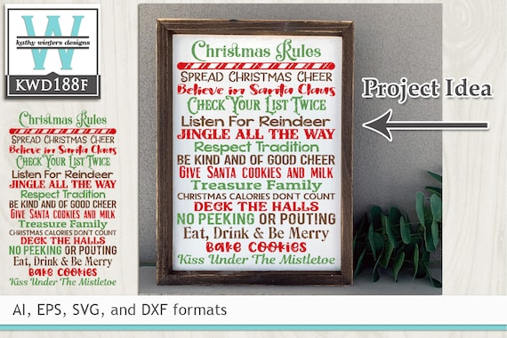 Svg Christmas Cutting File Kwd188f Etsy