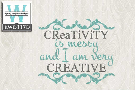 Svg Creativity Themed Cutting File Kwd117d Dxf Svg Eps Png Etsy