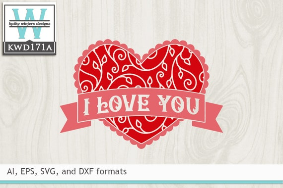 Svg Valentine S Cutting File Kwd171a Etsy