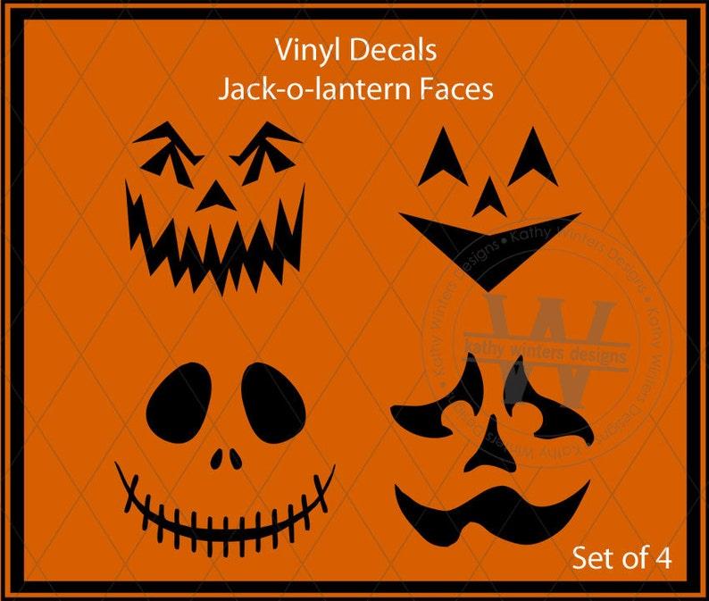Vinyl Decal Jack-o-Lantern Faces 1d