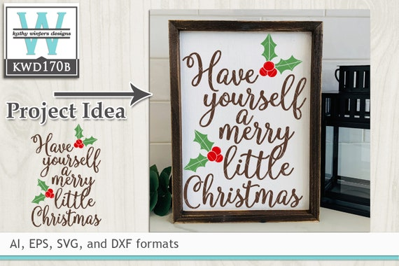 27+ Christmas Cutting File Kwd170B DXF