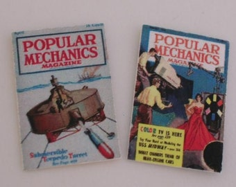 Dollhouse Miniature Popular Mechanic's
