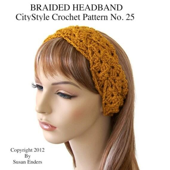 Crochet Headband Pattern Braided Headband Crochet Headwrap Etsy