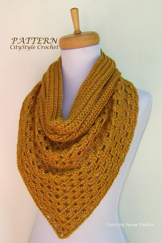 Instant Download Crochet Pattern Pdf Bandana Scarf Pattern Etsy