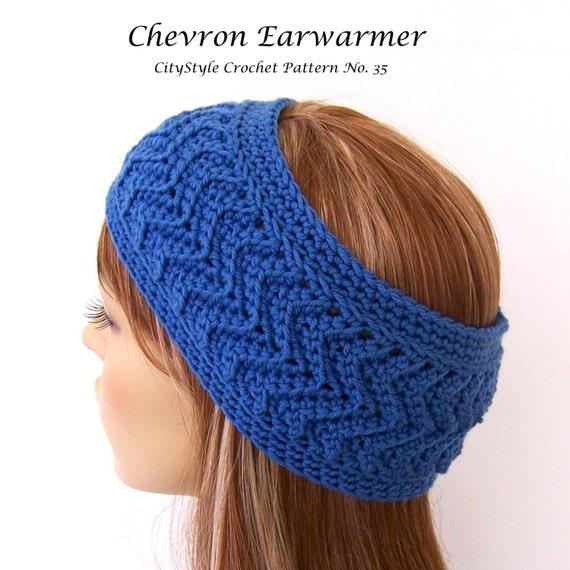 Crochet Pattern Headband Chevron Headband Headband Pattern Etsy