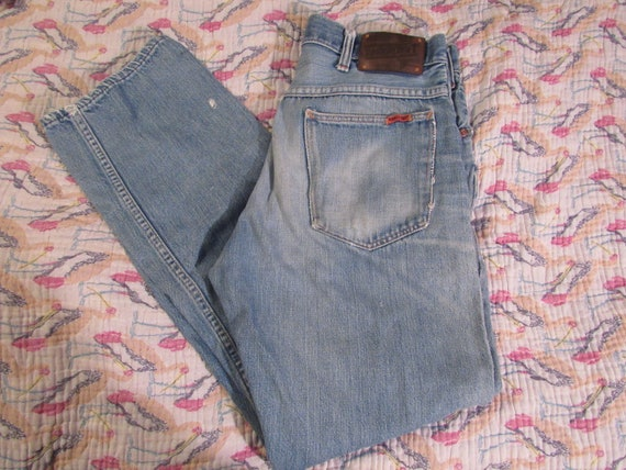 Vtg 1970s 80s Ranchcraft distressed Blue Jeans rep