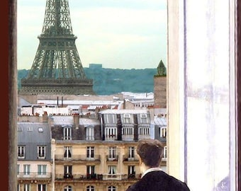 Envy - by Victor Bosson, Paris, Eiffel Tower,contemplation, humour, art print